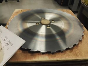 "11"" dia. x .080"" thick solid carbide saw"
